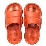 NUGKPRT ciabatte infradito,Estate Uomo Donna Pantofole con suola spessa Famiglia Comode pantofole con suola morbida Bagno Bagno Pantofole antiscivolo 39 arancione