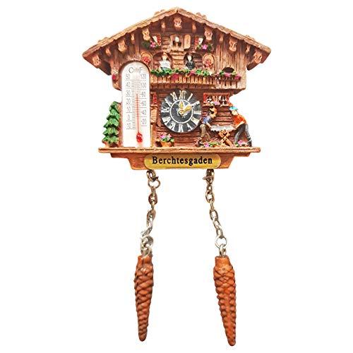 Ciffre Kuckucksuhr Magnet Polyresin Kühlschrank Wetterhaus - Berchtesgaden