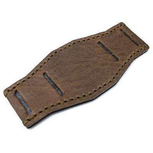 Strapcode BUND Pad in vera pelle di vitello Douglas verde per cinturini per...