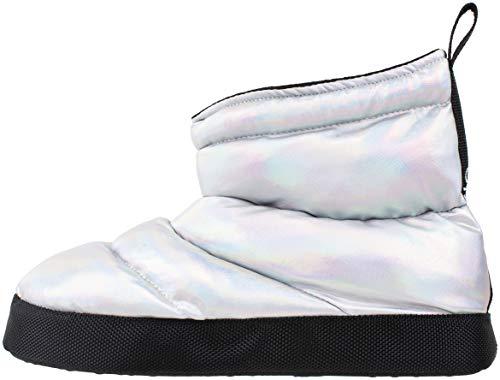 Capezio Women's Slipper Boot,Metallic Nylon Quilt Dance Boot,Multi Color,Women's Size 11