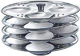 Tuelip Idli-Ständer für Kochgeschirr, Edelstahl, 4 Teller
