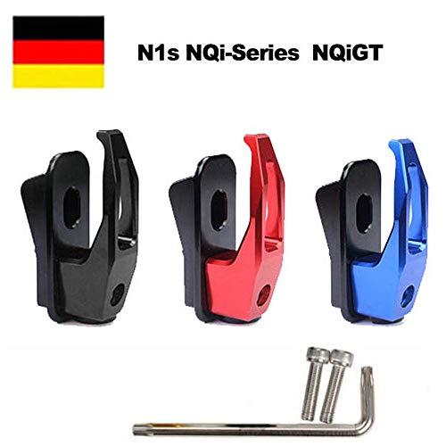 NIU N1/N1S/NGT NQi-Series NQiGT Elektroroller Lagergewicht 50kg, CNC-Haken (Schwarz)