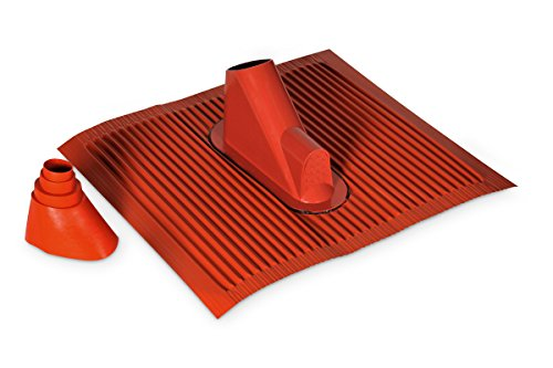 TechniSat Alu Dachziegel Set (mit Gummitülle zur wasserdichten Mast- und Kabeldurchführung 450 x 500mm) ziegelrot