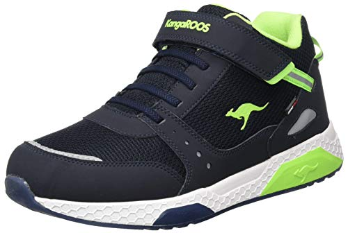 KangaROOS Unisex Kadee Taro RTX Hohe Sneaker, Blau (Dk Navy/Lime 4054), 36 EU