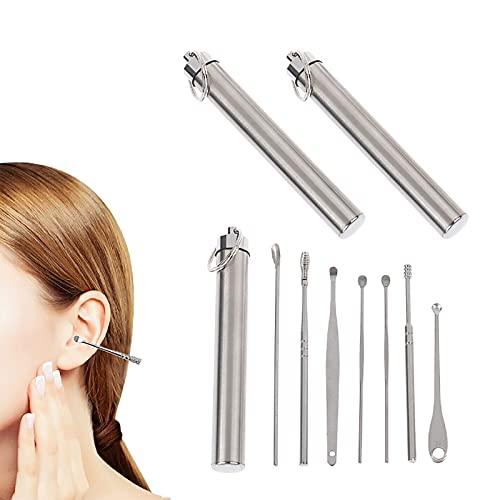 Kit de extracción de ganzúas para orejas Reutilizable, innovador juego de herramientas limpiador de cerumen de primavera, herramienta para quitar cera de oídos con cureta (2Pcs)