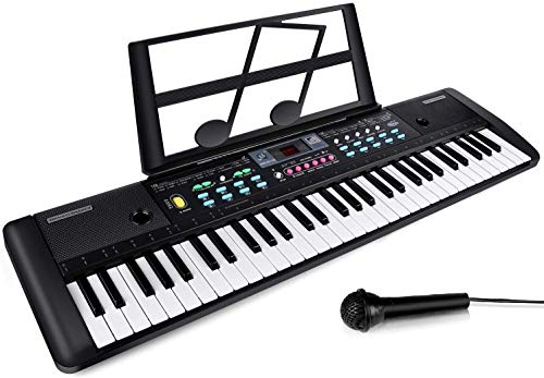 Best Price! CHUYANG 61 Keys Keyboard Piano, Electronic Digital Piano with Built-In Speaker, Micropho...