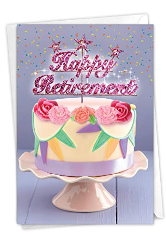 The Best Card Company - Happy Retirement Card with Envelope - Farewell Retiree Greeting - Retirement Blowouts C4193LRTG