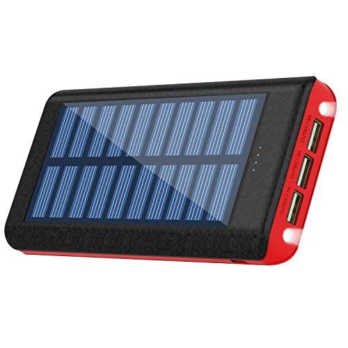 24000mah 大容量 ソーラーチャージャー モバイルバッテリー 携帯充電器 iPhone/Android 各種対応 3USB出力...