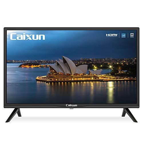 Caixun C24 24-Inch TV 720P Basic LED HD TV- Flat Screen Television Built-in HDMI,USB,VGA,Earphone,Optical Ports…>