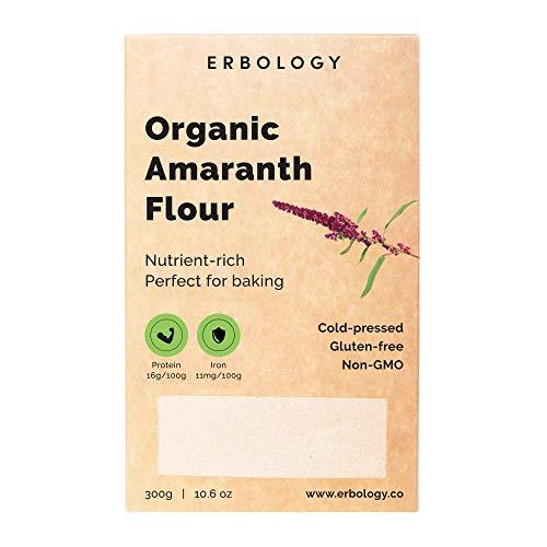 Organic Amaranth Flour 10.6 oz - Rich in Fiber, Protein and Minerals - Gluten-free
