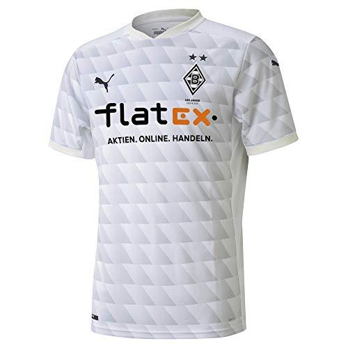 PUMA T-Shirt BMG Home Shirt Repl.Jr w.Sponsor, Puma White-Gray Violet, 140, 924915