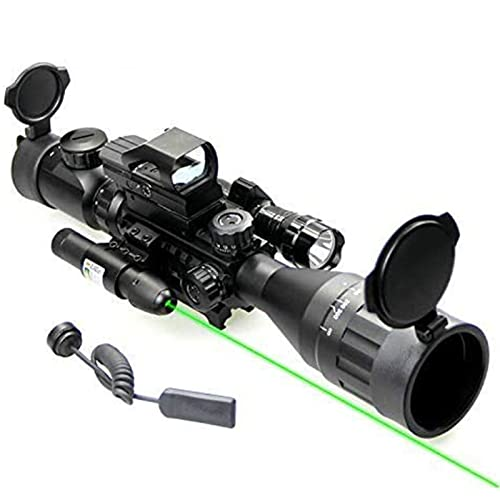 UUQ 4-16x50 AO Rifle Scope Red/Green Illuminated Range...