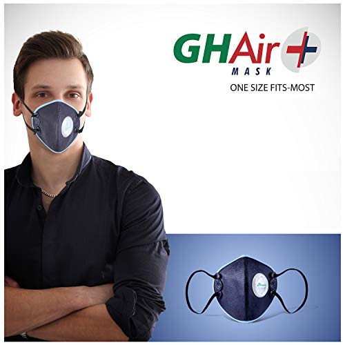 Grin Health N99 Anti Pollution Mask with Air Valve, Activated Carbon, SaftyHEPA, Reusable Washable,...