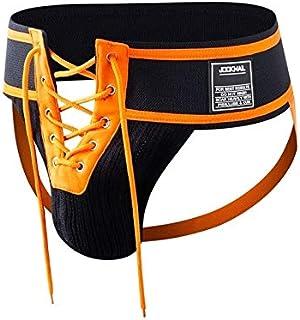 JOCKMAIL Men's Sexy Jock Strap Lace Up Jockstrap Underwear Athletic Supporter