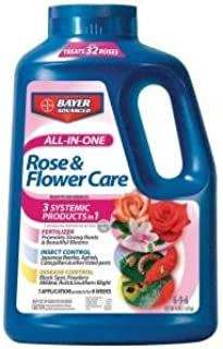 Bayer Advanced All-in-One Rose & Flower Granules - For Japanese Beetle, Aphid, Black Spot & Powdery Mildew Control