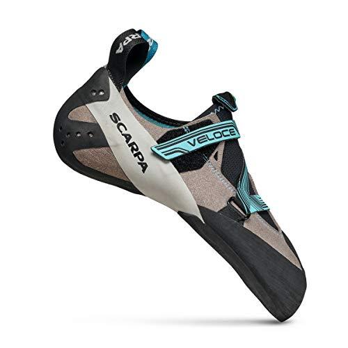 Scarpa Women's Veloce WMN Climbing Shoes, Light Gray-Maldive FKJW, 6.5 UK