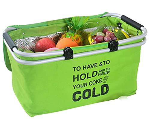 Food Cooling Bag, Portable Cool Lunch Bag, Large Cooler Bag, Foldable Picnic Backpack, Aluminium Alloy Frame Picnic Cooler Bag, für Party Picnic Bag