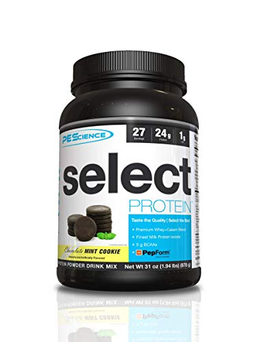 PEScience Select Protein Powder, Chocolate Mint Cookie, 27 Serving, Whey and Casein Blend