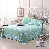 Sccarlettly Worth Having Green Striped Bettwäsche Chic Casual Einzelstück Cotton Twill Student Dormitory 1.5M Einzelbettdecken Kinder 1.8M 2.0M Doppelbett Bettwäsche (Größe 250 * 230Cm)