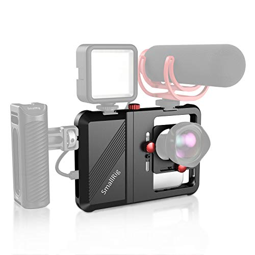 SMALLRIG Handy Video Rig,Smartphone Video Rig Handy Filme Halterung Stabilisator für Video Maker Filmemacher videofilmer für die meisten Smartphone - CPU2494
