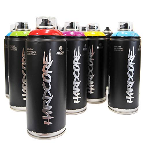MTN Hardcore 2, vernice spray, set di 12 colori popolari per graffiti, street art, murale, 400 ml