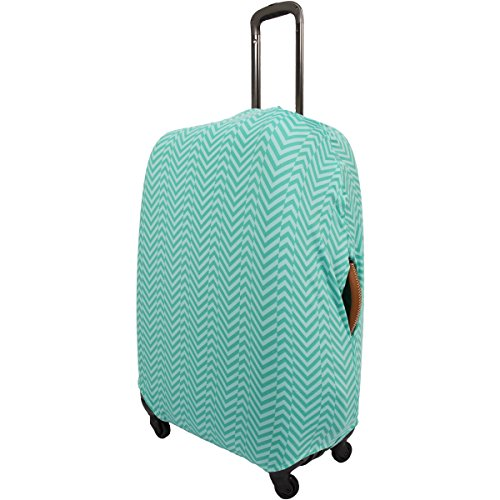 Travel Smart by Conair Elasticated Luggage Suitcase Cover Washable Durable Fits Universal 71-81cm/28-32' Luggage Green