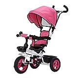 Byx- Bicicleta de Triciclo para niños 1-3 años Cochecito de bebé 2-6 Bebé Infante Niño 3 Wheeler Grande @ (Color : C)