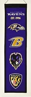Baltimore Ravens Logo Evolution Heritage Banner