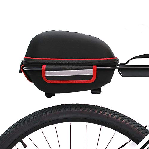 EverGreenPro 6L Sac de Coffre de vélo Sac de Support de vélo siège arrière Sac de Cargaison Porte-vélos sacoches de Coffre arrière de vélo Bagages de Rangement avec Housse de Pluie