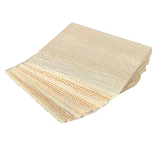 FMingNian 20 stücke Holzplatte Modell für Balsa Holzplatten für Hausschiff Flugzeug 100x100x1mm DIY