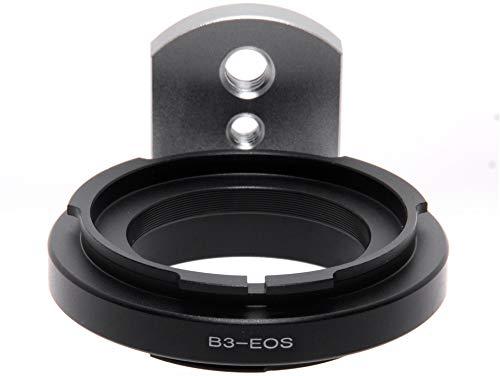 Adapter per obiettivi con baionetta B3 su fotocamera Canon EOS. Adattatore EF-B3 per digitale e analogico.