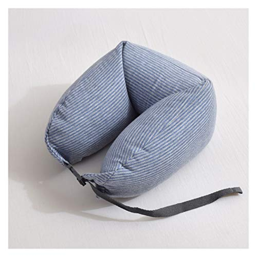 HZMM Neck pillow U-shaped Travel Pillow Neck Pillow Bedroom Travel Accessories Comfortable Sleep Pillow Home Textile (Color : Blue Gray)