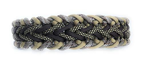 Viva Nature Handgemachtes Hunde-Halsband/verstellbar 35-42 cm  Paracord/Geflochten/Hund (Blau II)