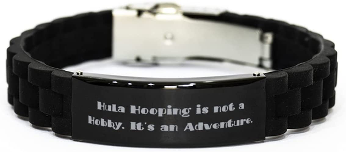 Love Hula Hooping Black Glidelock Clasp Bracelet, Hula Hooping is not a Hobby. It's an, Sarcastic Gifts for Friends