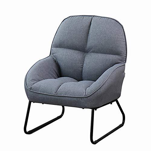 HUAYIN Flax Sofa Chairs, Comfy Single Sofa | High-Back Club Armchair for Bedroom Reading Mid-Century Modern Living Room Chair,Gray