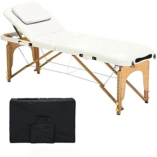 Lit de massage pliante portable avec sac de récupération