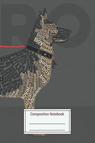 Composition Notebook: Typographic German Sheperd In The wild About Words S Paperback Notebook Journal