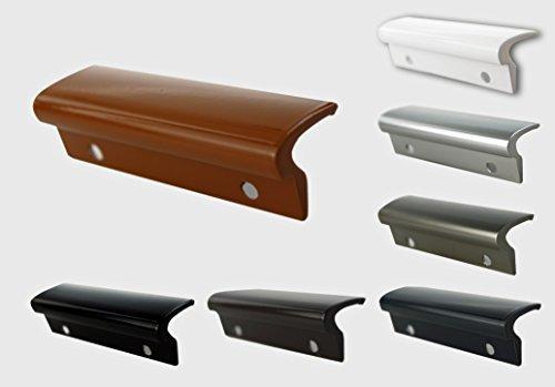 MS Beschläge® Glasfalzgriff Terassentürgriff Balkontürgriff Ziehgriff aus Aluminium (Golden Oak - RAL 8003)