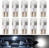 Biqing 10PCS T10 LED Ampoules de Voiture,194 168 W5W LED Canbus 12V 24V Voiture Intérieur Dôme Camion Lumières Licence Eclaireurs de Plaque Lumières de Courtoisie(Blanc)