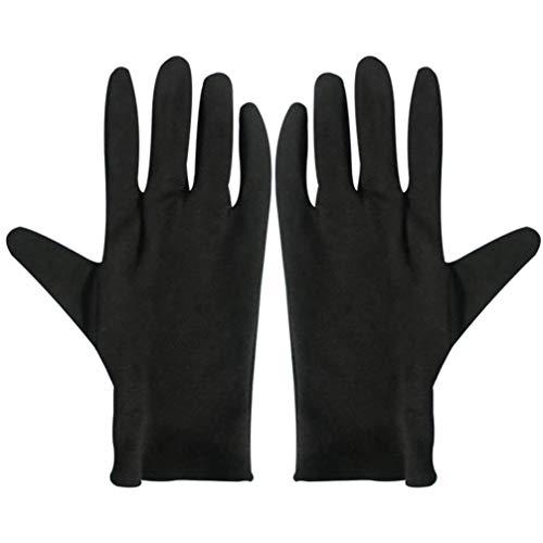 Uonlytech 12 Pcs Gants de Coton Hydratants Bijoux Gants Touchants Gants de Conduite de Voiture Étiquette Gants de Coton pour Le Travail à Domicile S