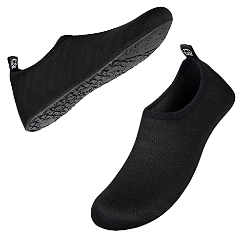 IceUnicorn zapatos de agua de secado rápido, calcetines de agua descalzos para mujeres y hombres, Negro (Lxy-black), 42/43 EU