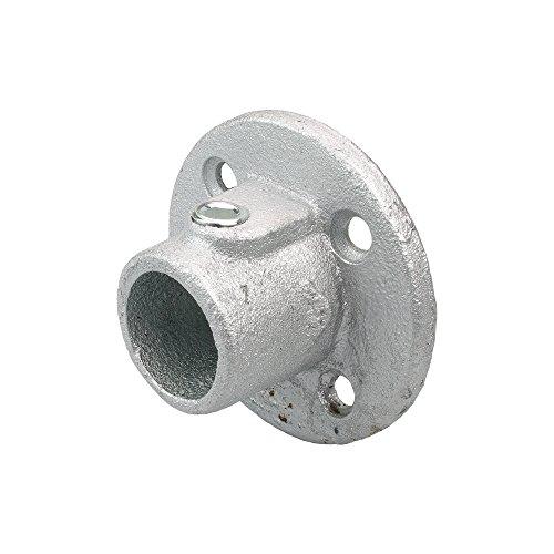 Liedeco wandlager wandhouder voor gordijnroede, buis 28 mm Ø industriële look | metaal | zilver - 1 stuk