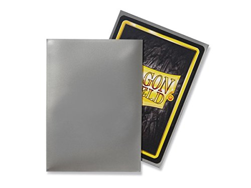 Dragon Shield 100 Count Standard Size Classic Deck Protector Sleeves (Silver)