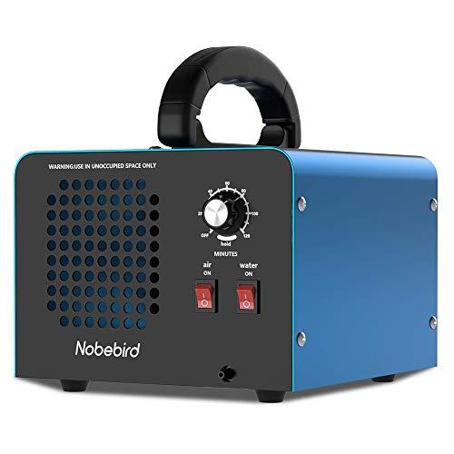 Nobebird Ozongenerator Luftreiniger, 28.000 mg/h Ozon Luftreiniger Deodorant mit Luft- und Wasserreinigungsmodi, 120 Minuten Timer, reinigt bis zu 300㎡, beseitigt Rauch/Haustiergeruch/Schadstoffe