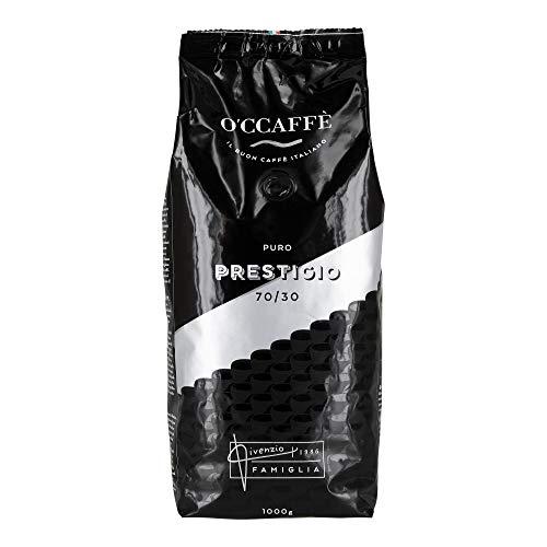 O'CCAFFÈ – Prestigio 70/30 | 1 kg ganze Kaffeebohnen aus 70% Arabica 30% Robusta | Italienischer Premium Kaffee aus extra langsamer Trommelröstung