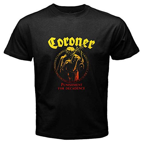 MN Coroner Punishment for Decadence Trash Metal Band Men's Black T-Shirt Size S-3XL