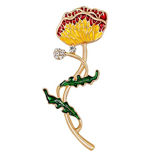 zhppac Imperdibles Grandes Pin De aleación de Broche Señoras Broche Moda Broche Broche de la Flor Damas broches Planta Broche Broche de Esmalte