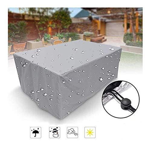NINGWXQ Fundas for Muebles de jardín Impermeable Duradera Muebles de protección Protección Equipo de Cubierta de Tela Oxford Anti-UV, el tamaño Personalizable (Color : Silver, Size : 90X90X90cm)