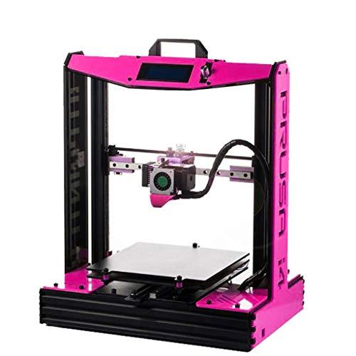 Impresora 3D De Metal De Alta Precisión, Casa Escritorio Impresora, Versión Mejorada De MK8 (Color : Pink)