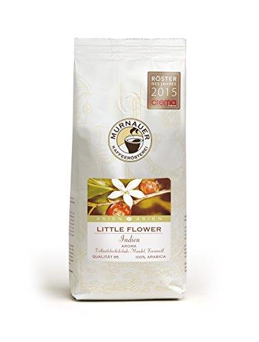 Murnauer Kaffeerösterei LITTLE FLOWER - Espressobohnen aus Indien - Premium Kaffee - von Hand frisch & schonend geröstet - Espresso und Filterkaffee - 250g ganze Bohnen